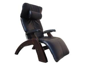 The Perfect Chair Zero Gravity Black Genuine Leather Recliner