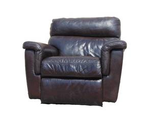 Glorious Bassett Genuine Leather Power Recliner