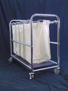 Awesome Divided Rolling Laundry Cart